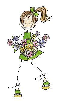 Amiga con flores