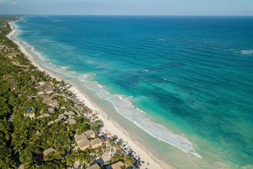 Riviera Maya - Vista aérea de Tulum