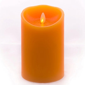【Luminara 盧米娜拉 擬真火焰 蠟燭】 杏桃香草香氛光滑蠟燭禮盒(中)/66059 +加贈充電電池組