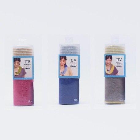 日本SHF生活小品│抗UV涼感防護圍巾│黃棕