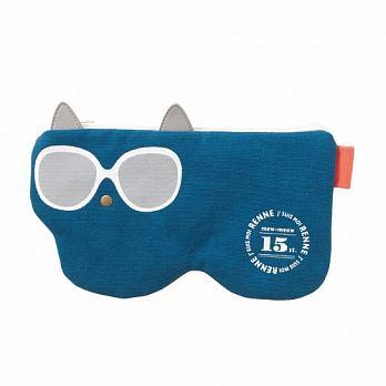 日本SHF生活小品│貓貓太陽眼鏡袋│藍