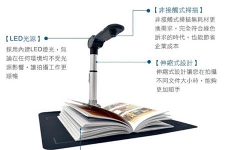 DS540 書籍文件翻拍機