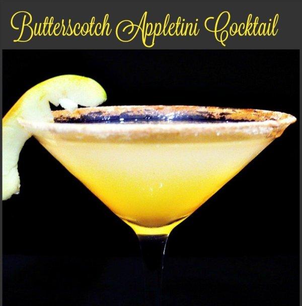 Butterscotch Appletini cocktail4