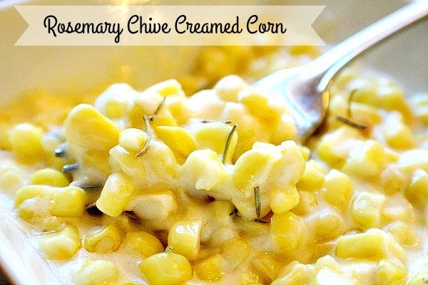 Rosemary Chive Creamed Corn