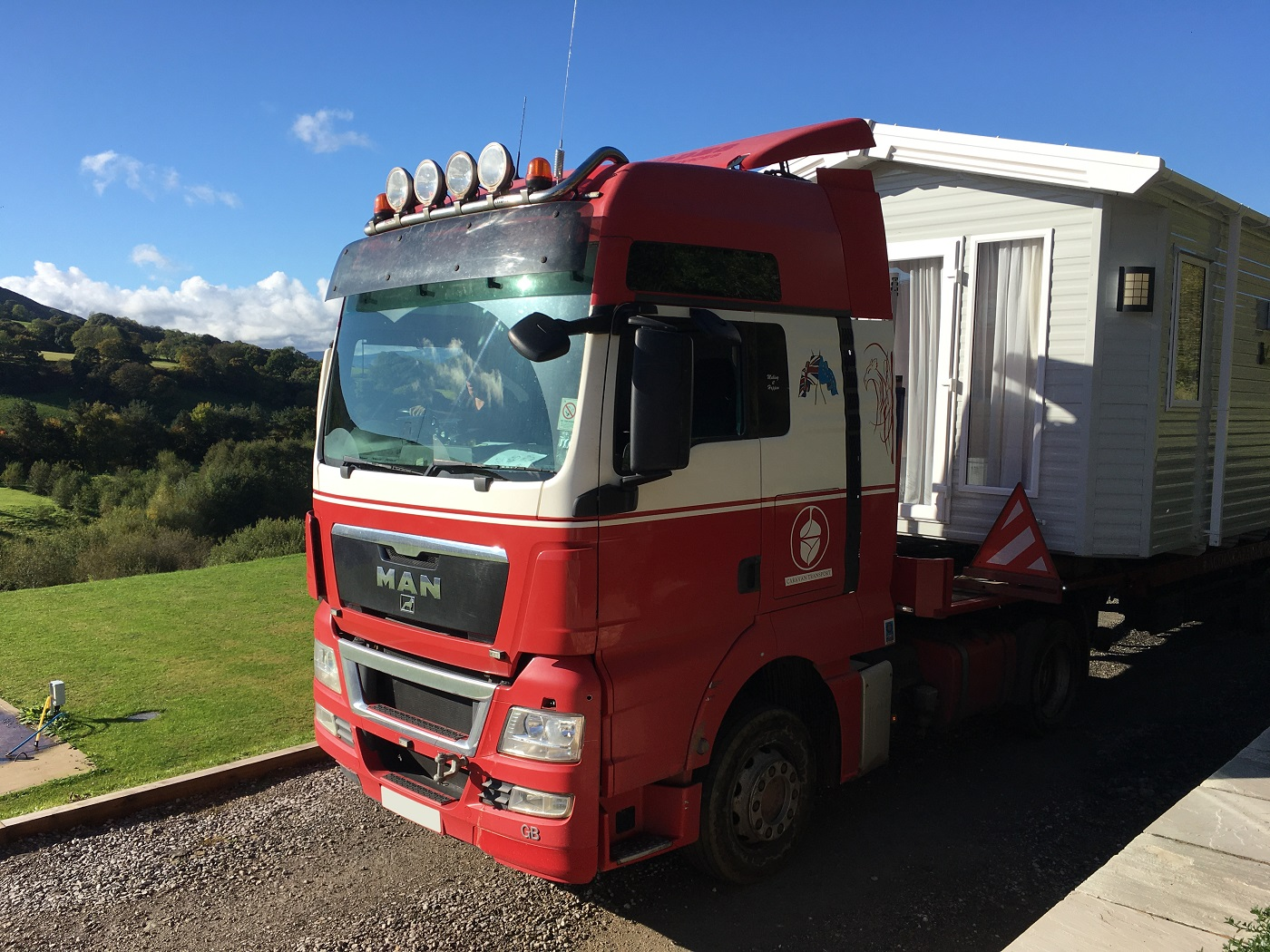 Acorn Caravan Transport Services Trans Static Caravan North Wales