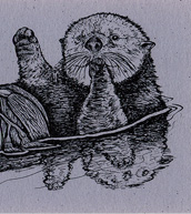 Sea Otters Bookmark