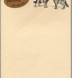 Howling Wolves Notepad