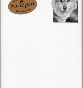 Timber Wolf Notepad