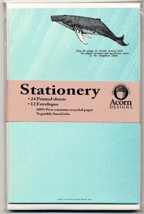 Humpback Whale Stationery