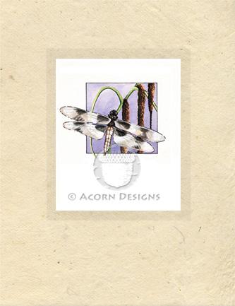 Eight-spotted Skimmer Lokta Card