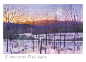 Winter Dawn Notecard
