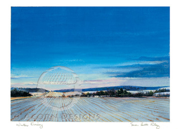 Winter Evening Notecard