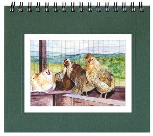 Whitney's Chickens Notecard