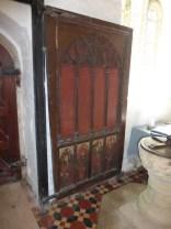 Gunwalloe: part of the C15 rood screen re-used as a door