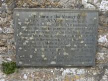 John Davey's memorial