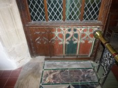 Part of the original rood screen