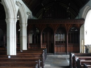The south aisle looking east