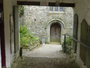 St Clement: view through the lych gate