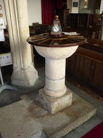 St Eval: Norman font