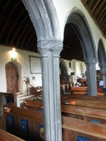 St Merryn: carved catacleuse capital