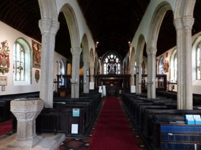 Kilkhampton: the nave