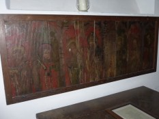 Poundstock: former rood screen panel