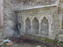 Bodmin: the Thoma a Becket chapel sedilia