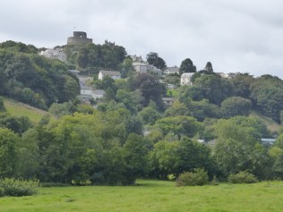 Launceston castle and the tower of St Mary Magdalene