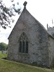 Mawnan: east end. Note the shadow of the ghost of the original chancel roof