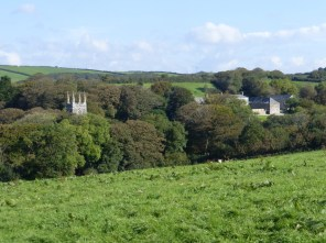 Launcells church and Barton