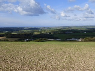 Looking seaward from Whitstone hill