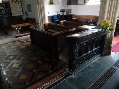 Poughill: the minister's desk