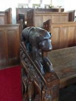 North Tamerton: bench head