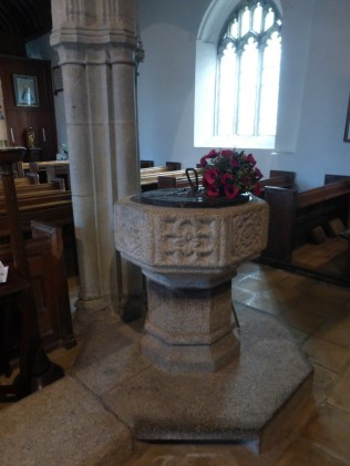 Week St Mary: gothic font