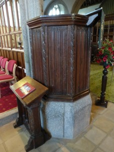 Week St Mary: Tudor pulpit