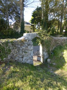 Stithians: the vicar's door