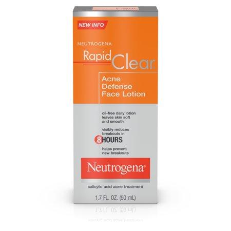 Neutrogena Rapid Clear Acne Defense Face Lotion 1.7 Ffl.oz/50ml