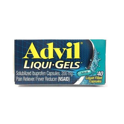 Advil Liqui-Gels 200mg Pain Reliever / Fever Reducer, 40 Liquid Filled Capsules