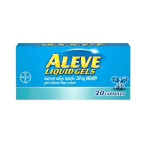 Aleve Liquid Gels w Naproxen Sodium, Pain Reliever/Fever Reducer, 220 mg, 20 Ct