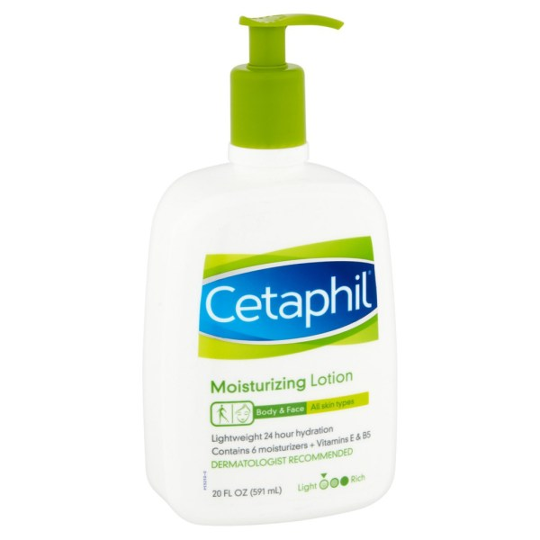 Cetaphil Moisturizing Lotion For Face & Body All Skin Types 20oz.591ml.