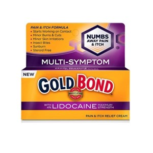 Gold Bond Medicated Pain and Itch Relief Cream with Lidocaine, 1.75oz