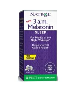 Natrol 3AM Melatonin Sleep Aid Lavander Vanilla 30 Tablets