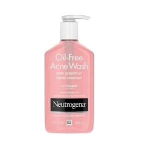Neutrogena Oil Free Acne Wash Pink Grapefruit Facial Cleanser 9.1floz./269ml