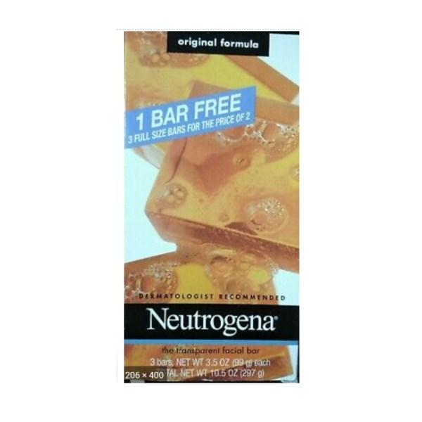 Neutrogena 3 Full Size Bars, Original Formula