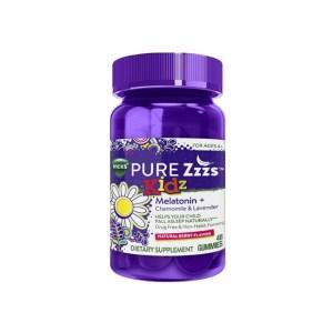 Vicks Pure Zzzs Kidz Melatonin + Chamomile & Lavender, 48 gummies