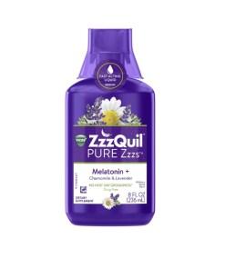 Vicks ZzzQuil Pure Zzzs Melatonin + Chamomile & Lavender Sleep Aid Liquid - 8 fl oz