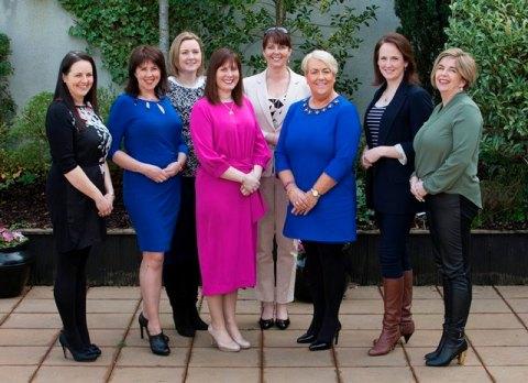 Left to Right: Sandra Burns (Joe's Farm Crisps, Cork), Valerie Murphy (Valerie's Breast Care, Limerick), Maeve Sheridan (Western Herd Brewing Company, Ennis, Co.Clare), Caroline McEnery (ACORNS Lead Entrepreneur and The HR Suite,Tralee, Co. Kerry), Denise Bourke (Divas and Dudes, Kerry), Breda English Hayes (MOET Accountants, Limerick), Norma Dineen (Bo Rua Farm, Cork) and Grainne Bagnall (Sense about Maths, Cork).