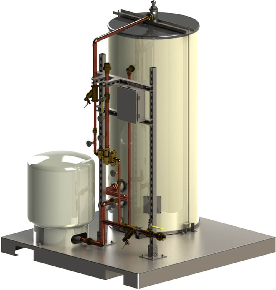 hight resolution of skid mounted emergency water tempering system