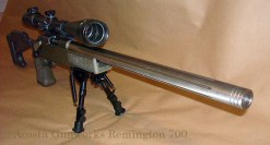 """This Remington 700 rifle was built on a blueprinted Remington 700 short action with a Shilen 1/10"""" twist stainless steel barrel."""