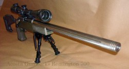"This Remington 700 rifle was built on a blueprinted Remington 700 short action with a Shilen 1/10"" twist stainless steel barrel."